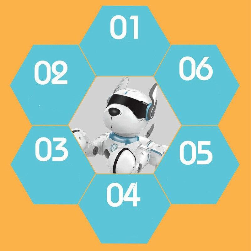 2.4G télécommande sans fil Smart Robot chien enfants jouet Intelligent parlant Robot chien jouet électronique Pet cadeau d'anniversaire