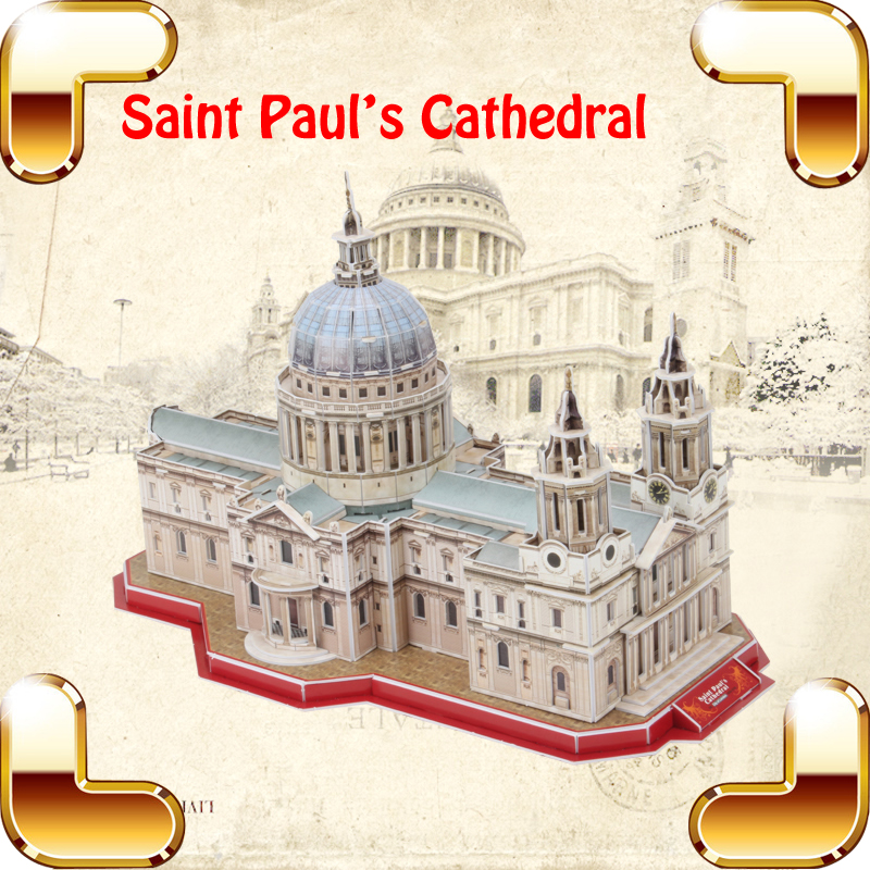 New Year Gift Saint Paul's Cathedral 3D Puzzle DIY Famous Building Construction Model Toy Education Family Handmade Game Present