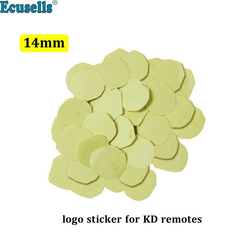 10 pièces/20 pièces 14mm résine époxy cristal remplacement Logo pour KEYDIY KD/VVDI pliant Flip télécommande voiture clé Shell autocollant (gel de silice)