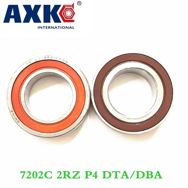 Axk 1pair 7202 7202c 2rz P4 Dt Db 15x35x11 Sealed Angular Contact Bearings Speed Spindle Bearings Cnc Abec-7