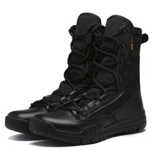 Fashion Outdoor Army Boots Men Microfiber cloth Military Boots Tactical Combat Boots Summer/Winter Desert Boots Size 38-45