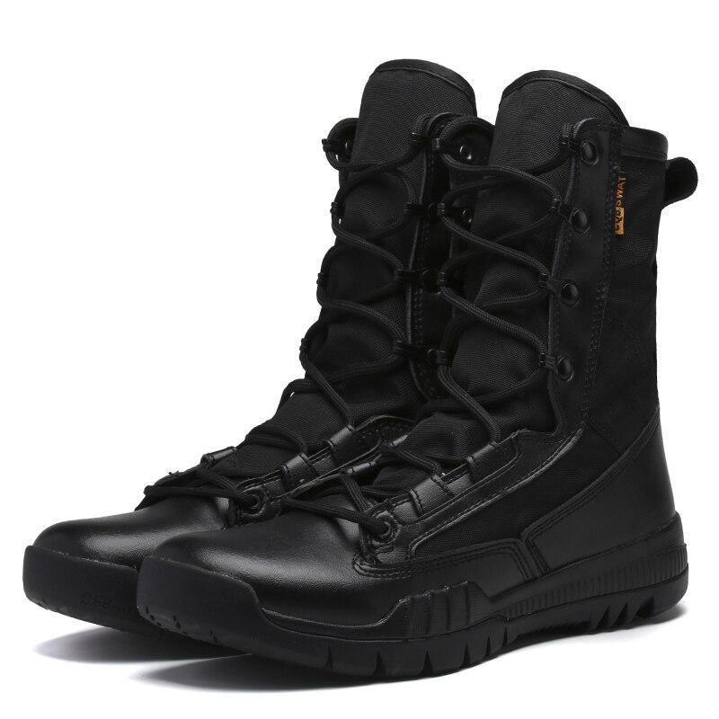 Mode armée en plein air bottes hommes microfibre tissu bottes militaires bottes de Combat tactiques été/hiver désert bottes taille 38-45