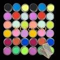Burano 36 unids Polvo de Acrílico para el Arte Del Clavo Consejos Glitter UV Kit Polaco Decora Set 18 colores set power2903