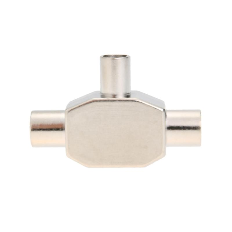 TV9.5 1 Male 2 Female TV Antenna Plug Tee Conversion Cable Joint Adapter for 9.5 interfa ...