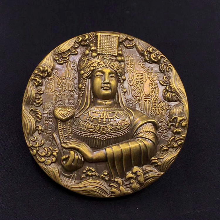 90mm Mazu Medal Chinese Sea Goddess coin free shipping 432g 90mm Mazu Medal Chinese Sea Goddess coin free shipping 432g