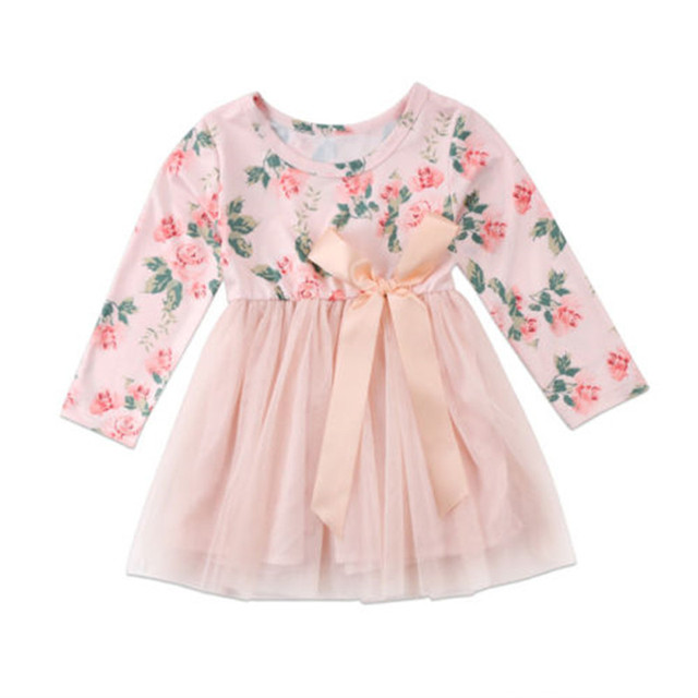 de269a272 Happy Toddler Infant Baby Girls Clothes Kids Princess Tutu Dress ...