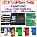 2016 lcd tester para iphone 4 4s 5 5c 5s 6 6 Plus Pantalla Táctil Pantalla Digitalizador Kit de Herramientas de Reparación de La Máquina Separador conjunto