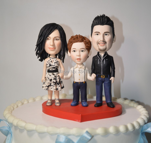 funny family wedding cake toppers wedding cake topper family memorial custom clay topper 14544