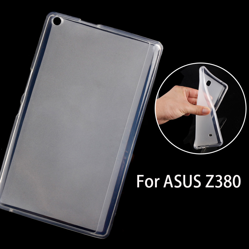 Silicone Soft Case for Asus Zenpad 8.0 Z380 Z380C Z380KL Z380M Tablet Back Cover Soft TPU Shockproof Phone Protective Shell/Skin z170 high quality soft tpu rubber cover semi transparent back case for asus zenpad c 7 0 z170 z170c z170mg z170cg silicone cover