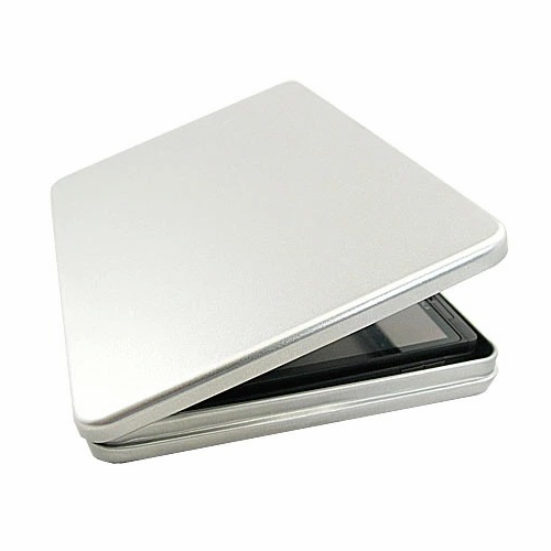 16mm To Inches >> 2pcs 190*135*16mm Hinged Tin Box for 6 inches 7 inch Tablet Pad Kindle Large rectangle muji ...