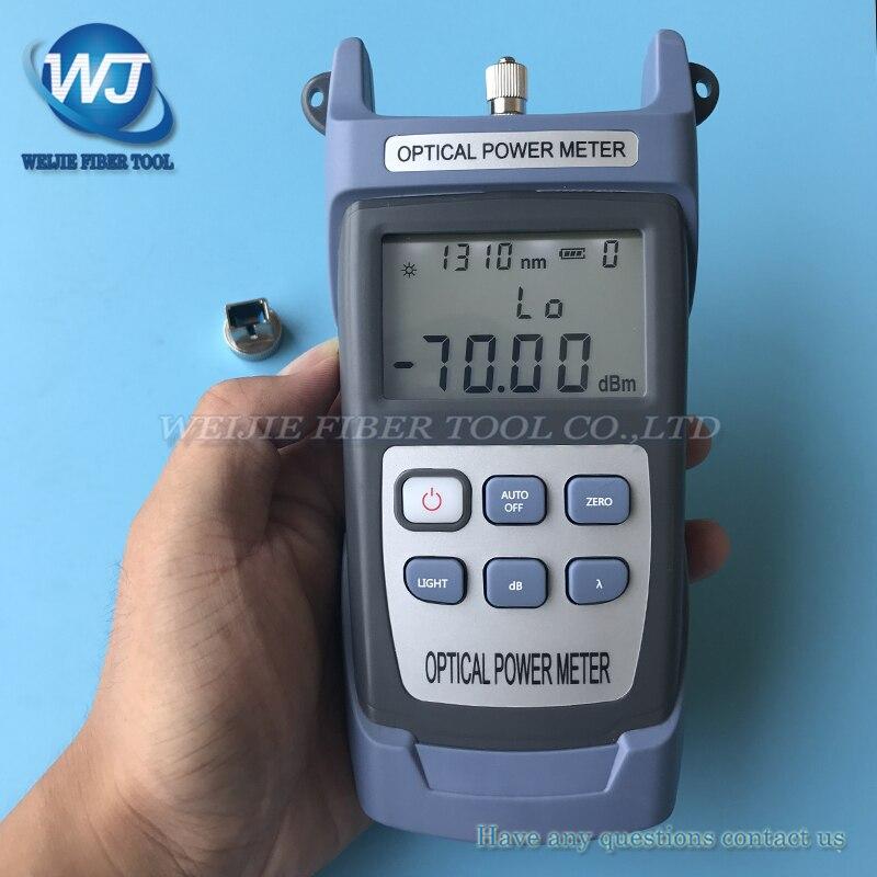 FTTH Fibra medidor de potencia óptica king-60s Fibra óptica cable tester-70dbm ~ + 10dbm SC/FC conector envío libre
