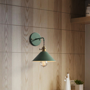 Image 3 - Nordic Modern wall light Umbrella Restaurant Decoration Macarons  Lamp Living Room Bedroom Aisle Stairs Bedside Home Decor