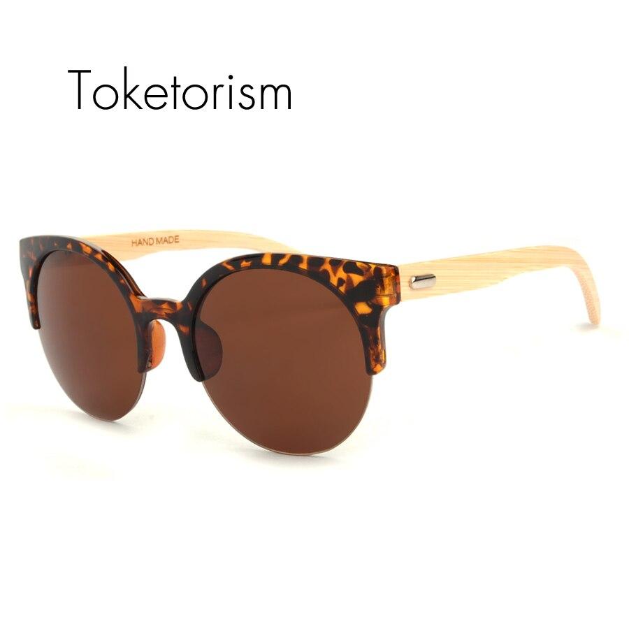 buy toketorism vintage style cat eye bamboo sunglasses retro wood lunette de. Black Bedroom Furniture Sets. Home Design Ideas