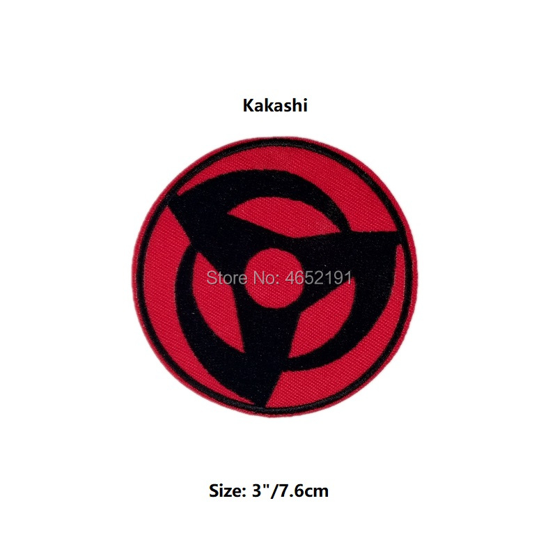 Embroidered Iron on plasters Decal Emblem Anime do-it-Yourself Carnival Costume Marlon Nancy Sticker Naruto Kakashi for Eyes H01
