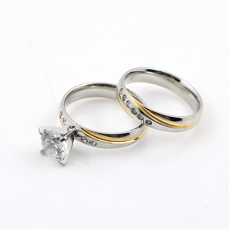 JOVO Romantic Anniversary Wedding Rings Sets for Couple Silver