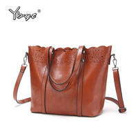 YBYT Brand 2017 New Vintage Casual Large Capacity Women Tote Bag High Quality Ladies Shopping Handbags