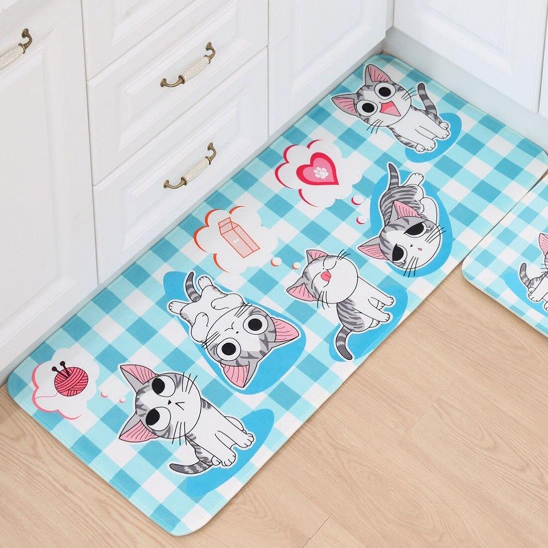 1 Stück Katze Fußmatte Boden Matte Anti-slip Wasser Absorption Teppich Küche Matte Tür Matte Katze Küche Teppich Wc Tapete Teppich Veranda Tür