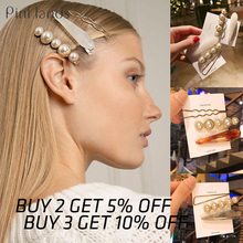 3Pcs New Metal Hair Clips Pearl Hairpin Barrettes Hairgrip Bobby Pins for Women Girls Wedding Clip Accessories