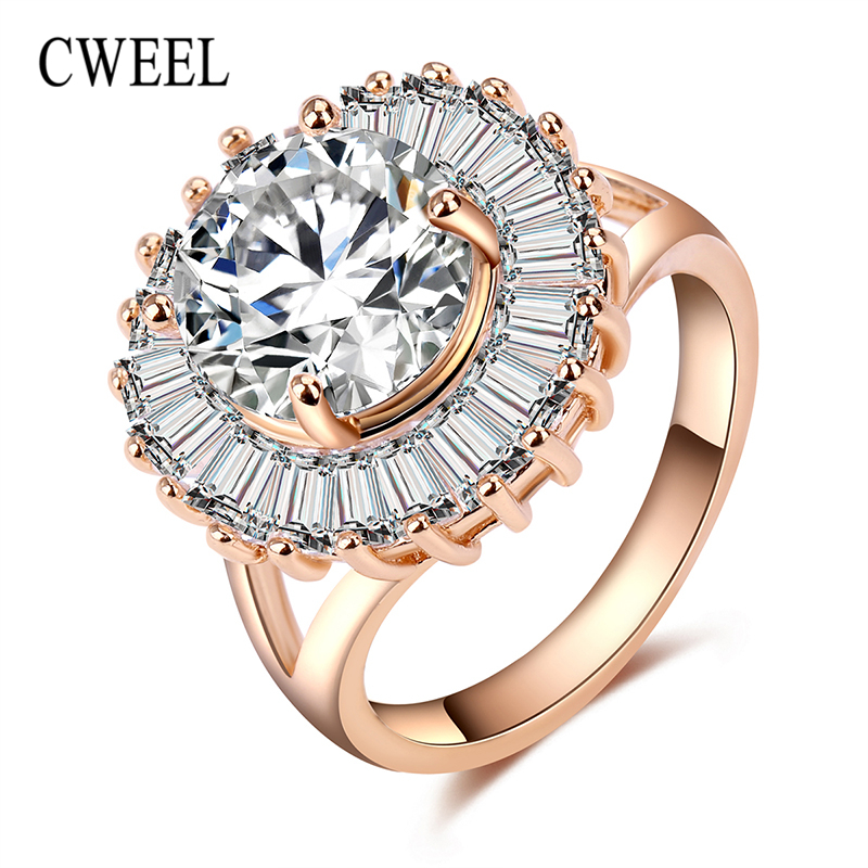 cweel luxury engagement rings jewelry for women imitation crystal african beads wedding bridal party accessories lover gifts - African Wedding Rings