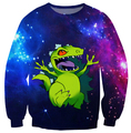 Harajuku cartoon 3d sweatshirt jumper REPTAR space galaxy  sweatshirt hoodies pullovers outerwear