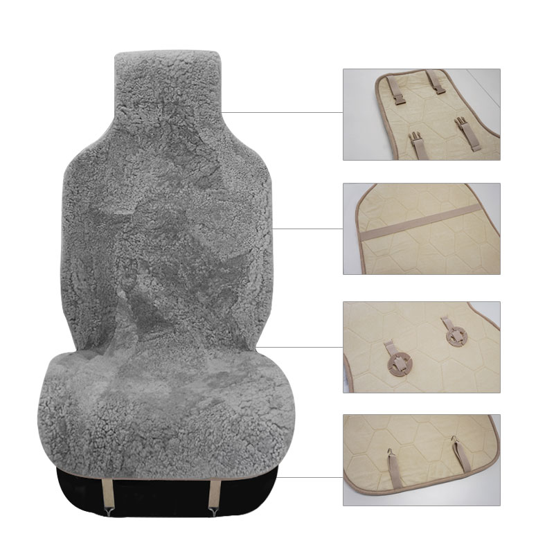 Image 2 - ROWNFUR Brand Universal Car Seat Covers Sheepskin Fur Seat Cushion 2 pc Car Front Seat Or 1 pc Back Seat Automobiles Accessories-in Automobiles Seat Covers from Automobiles & Motorcycles