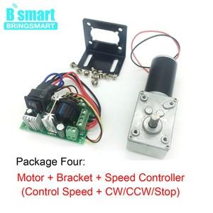 Image 5 - Bringsmart silnik prądu stałego 12V przekładnie silniki elektryczne 24 V reduktor mikro silnik wysoki moment obrotowy 70kg. cm zużyty motoreduktor + regulator prędkości