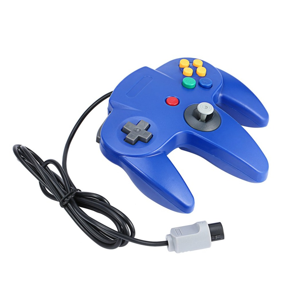 For Nintendo 64 Wired font b Gamepad b font Dark Blue Game Gaming Handle Controller Remote