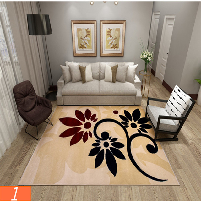 Country Style 160x230cm Can Be Washed Blended Carpet Modern Simple Living Room Coffee Table Sofa