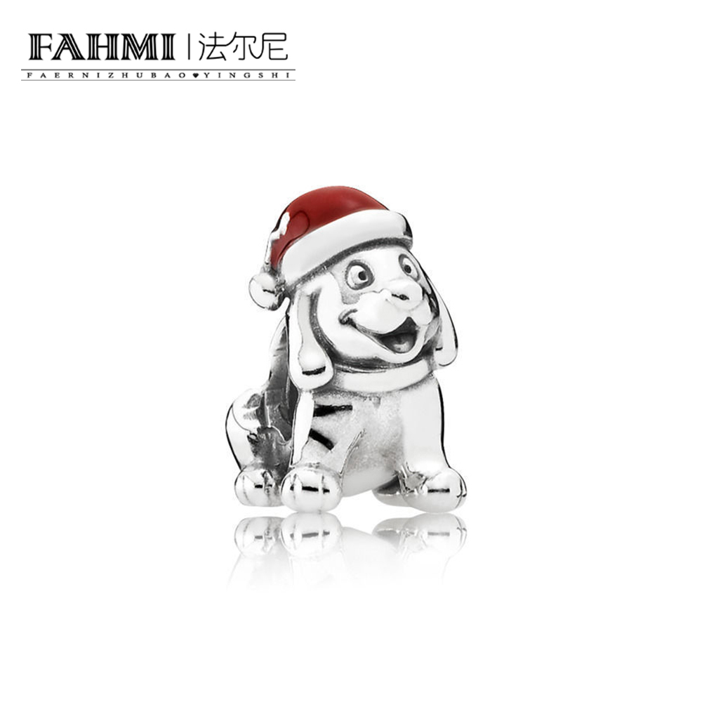FAHMI 100% 925 Sterling Silver 1:1 Authentic 791769EN39 Christmas Puppy Charm Bracelet Original  Women  Jewelry 0