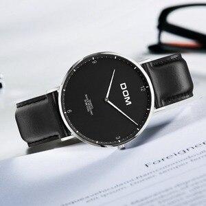 Image 3 - DOM 2018 Fashion Horloges Voor Mannen Uur Heren Horloges Topmerk Luxe Quartz Horloge Man Lederen Sport Polshorloge Klok relogio