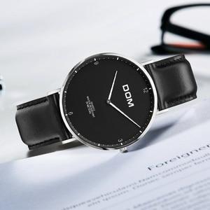 Image 3 - DOM 2018 Fashion Watches For Men Hour Mens Watches Top Brand Luxury Quartz Watch Man Leather Sport Wrist Watch Clock relogio