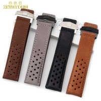 Cinturino in Vera pelle vigilanza del braccialetto della cinghia mens orologi da polso della fascia fold fibbia Nubuck 22 millimetri cinturini wristband accessori