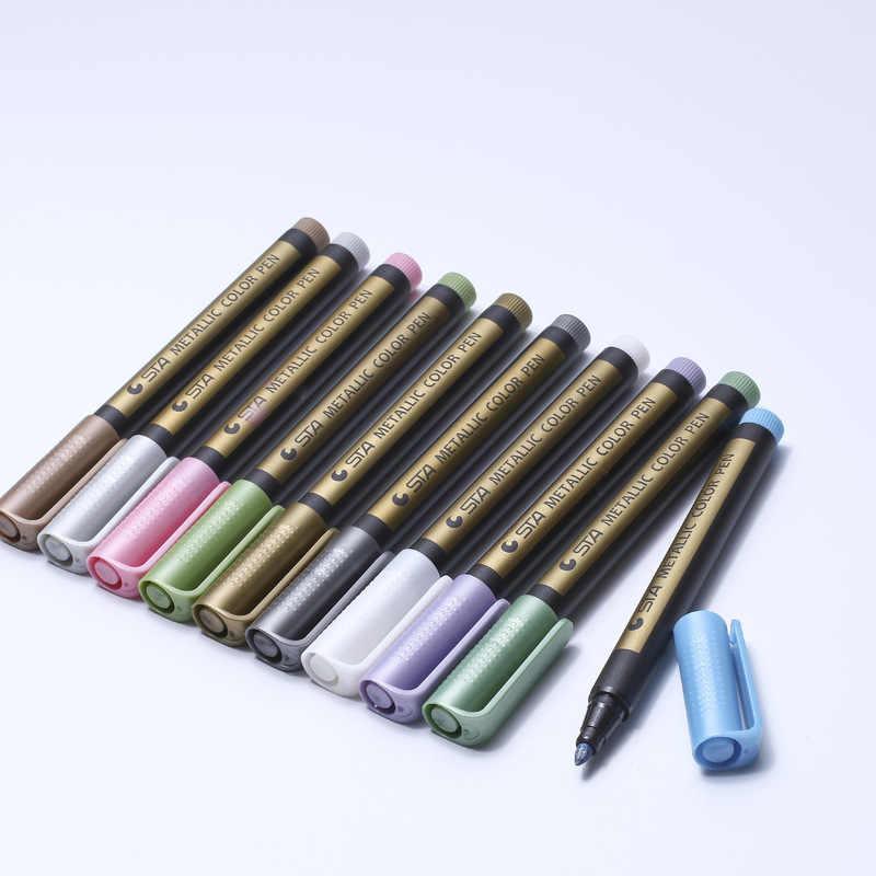 STA8151 10 couleurs marqueur stylo Vintage peinture haute lumière bricolage Graffiti Fluorescent brosse créative bureau papeterie fournitures scolaires
