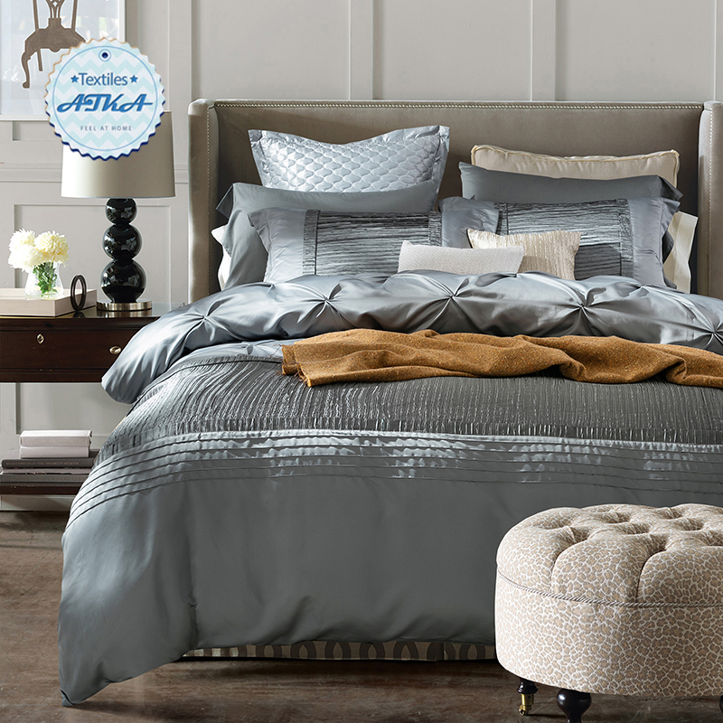 Luxury silk cotton bedding sets duvet cover bed set the for Luxury cotton comforter sets