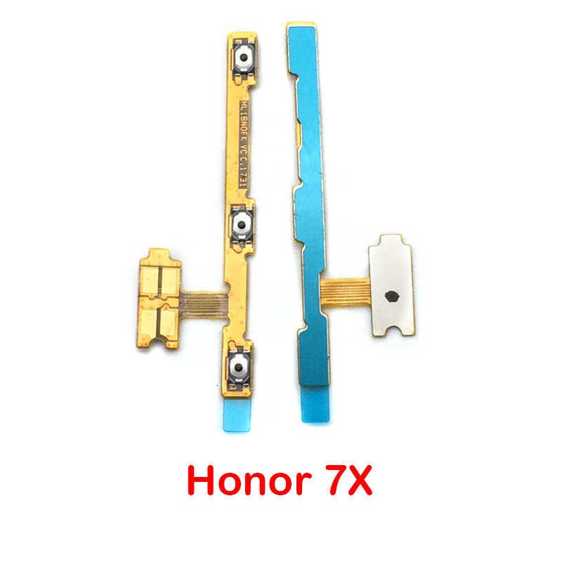 Nouveau Volume bouton interrupteur marche arrêt bouton câble souple pour Huawei Honor 6 8 9 Lite 10 6x 6c 4c 7X 7c Y6 Y9 Prime 2018/Y7 2017