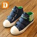 Специальное Предложение Бренд 2017 джинсы Дети Shoes Высокое Качество Нового повседневная Холст Резиновые скольжения на Твердых Детей Shoes Девушки Парни кроссовки
