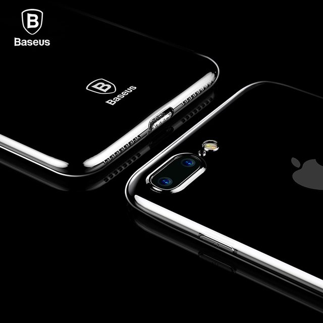 Clear Case: Black or Full Transparent Silicone Case for iPhone 7 7 Plus 8 8 Plus (TPU iPhone Case) by Baseus 1
