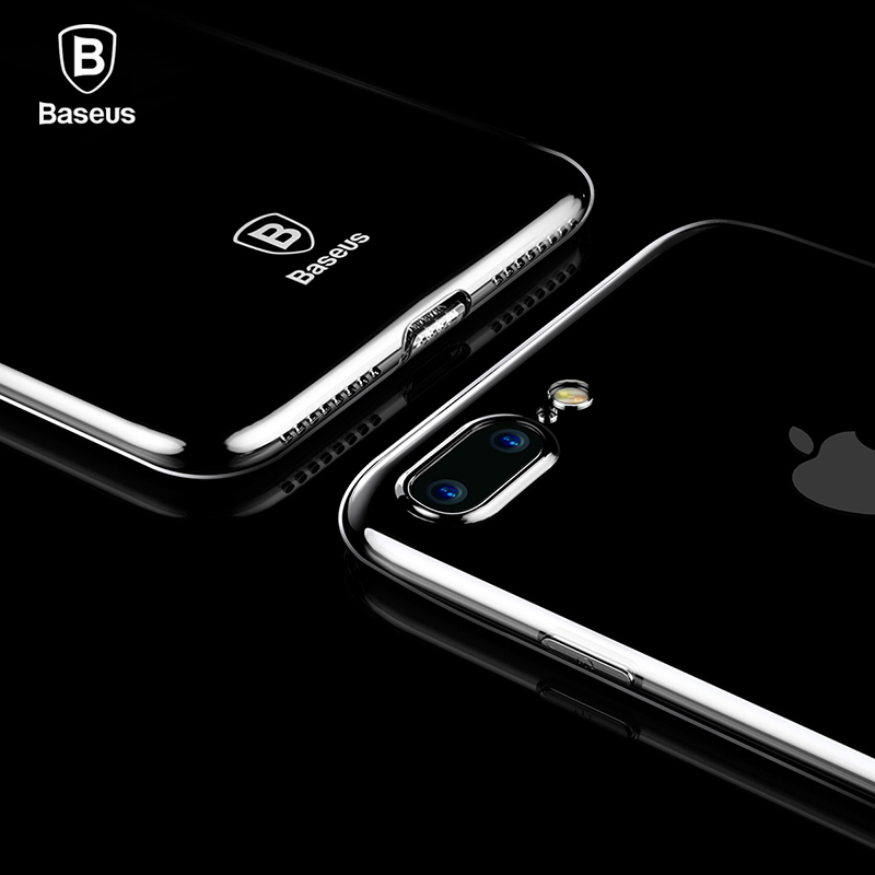 Galleria fotografica Baseus Ultra Thin Case For iPhone 7 Fashion Soft Silicone Case For iPhone 7 7 Plus Cover Protective Shell Clear Back Phone Cases