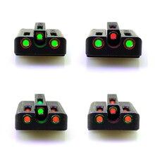 FTODSP волоконно-оптический прицел набор-красный/зеленый передний задний прицел Прицелы для охоты Glock