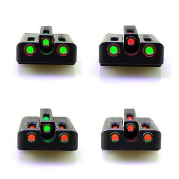 Celownik optyczny FTODSP-czerwony zielony przedni celownik tylny do polowania Glock tanie i dobre opinie TG-G3