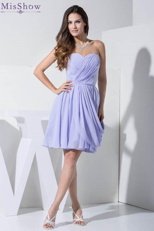 Misshow 2018 Customizable Bridesmaid Dresses Short Women Las Chiffion Wedding Party Dress Vestidos Para Damas De Honor