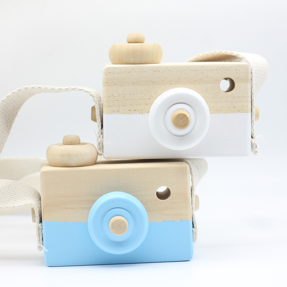Cute Nordic Hanging Wooden Camera Toy 9.5*6*3cm Room Decor Furnishing Articles Baby Birthday Gifts Wood Toys For Children New