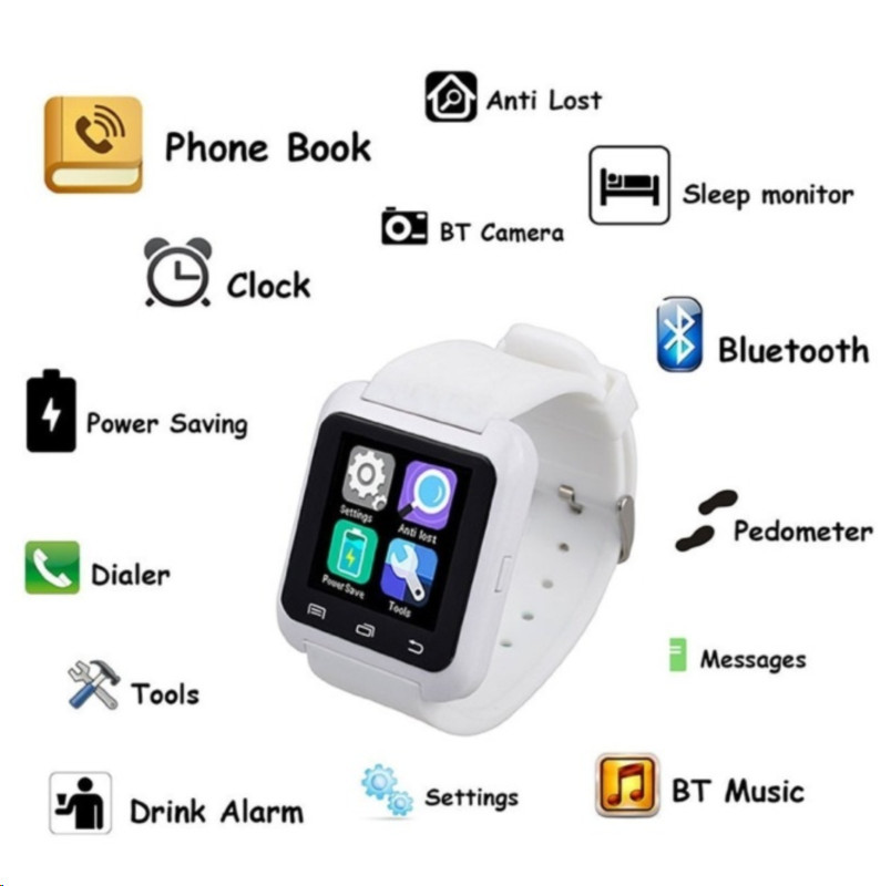 Smartwatch Bluetooth Smart Watch U80 for iPhone IOS Android Smart Phone Wear Clock Wearable Device Smartwatch relogio feminino