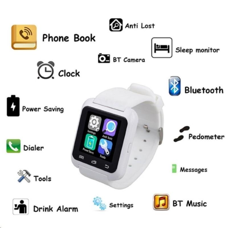 Smartwatch Bluetooth Smart Watch U80 for iPhone IOS Android Smart Phone Wear Clock Wearable Device Smartwatch relogio feminino u8 smartwatch bluetooth ответ камера управляющее сообщение медиа анти потерянный для android ios смартфон