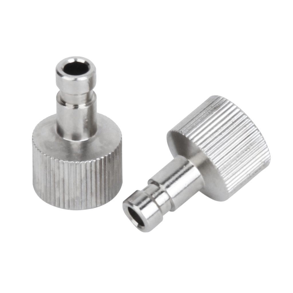 2 Sets 1/8inch Airbrush Quick Release Disconnect Hose Coupler Air Flow Alloy
