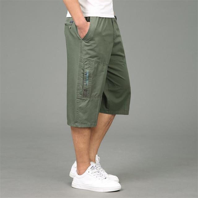 Men Multi-Zip Pocket Cargo Pants Safari Style New Fashion Summer Gym Sport Short Pants