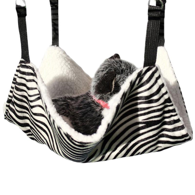 Eerlijk Warme Opknoping Huisdier Opknoping Bed Ronde Dot Toren Zebra Luipaard Patroon Warm Pet Hangmat Huisdier Kooi Hangmat Voldoende Aanbod