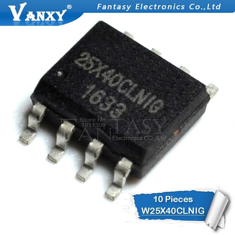 10PCS W25X40CLSNIG SOP-8 W25X40CLNIG SOP 25X40 SOP8 25X40CLNIG 25X40CLSNIG Memory IC Original Authentic