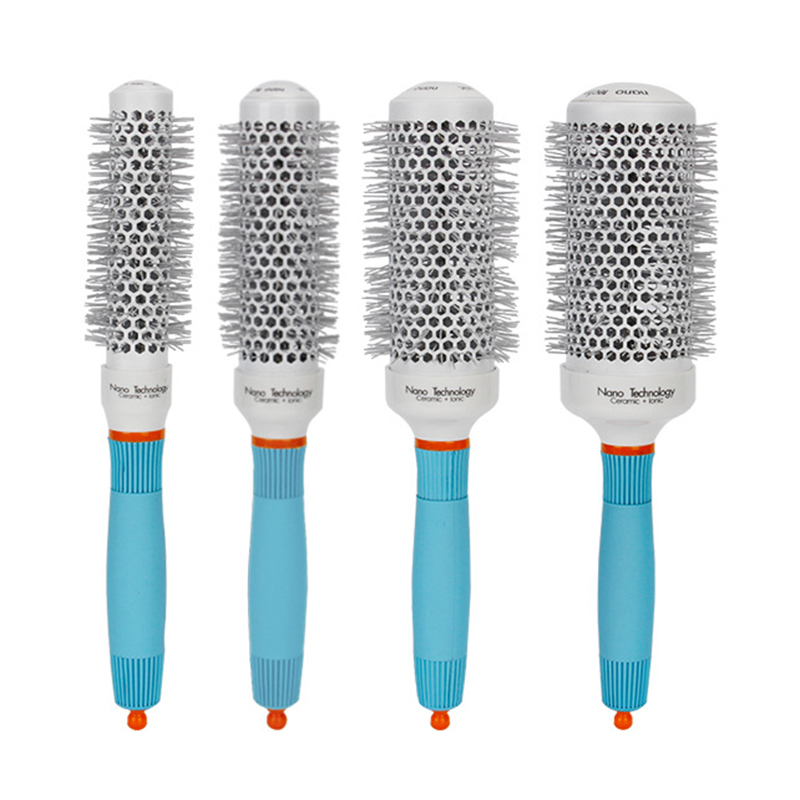 4 Sizes Pro Salon Curly Hair Comb High Temperature Resistant Ceramic Round Brush Roller Hair Styling Hairbrush 27cm Mayitr