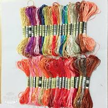 10pcs similar dmc thread silk threads Cross Stitch Cotton Embroidery Thread Floss Sewing Skeins Craft Dofferent Colors(China)